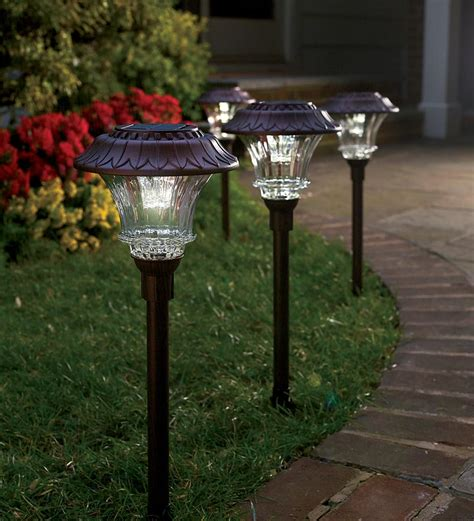 solar outdoor lights plow hearth solar path lights review 50 gift card
