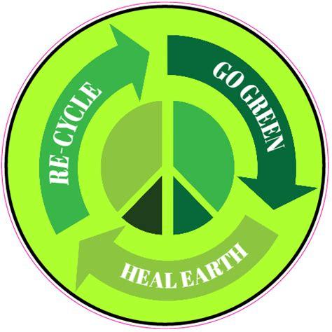 Stiker Re re cycle peace sign sticker u s custom stickers