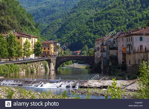 Bagni Di Lucca by River Through Bagni Di Lucca Italy Stock Photo 96119835