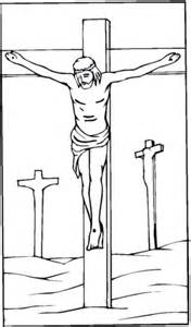 printable images of jesus on the cross jesus crucified on the cross coloring page free