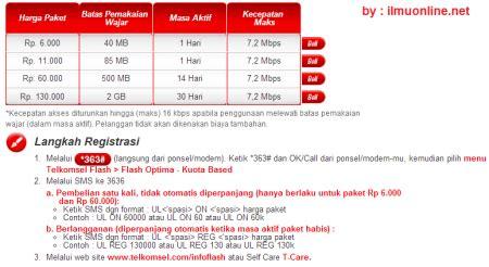 Paket Telkom Flash Modem cara mendaftar paket telkomsel flash simpati lengkap