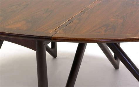 Drop Leaf Gateleg Dining Table Kurt Ostervig Oval Eliptical Rosewood Gateleg Drop Leaf Dining Table At 1stdibs