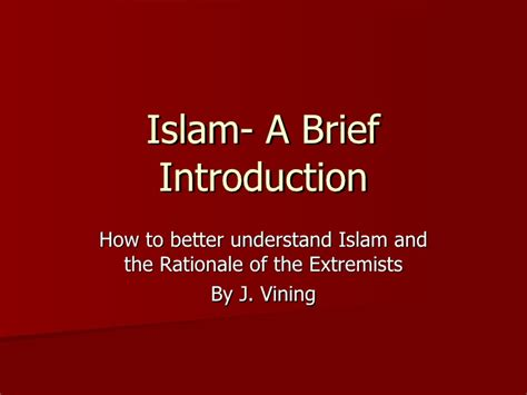 introduction brief brief introduction to islam