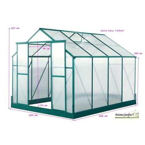 paroi jardin serre de jardin en polycarbonate paroi lotus 7 44m 178 achat vente pas cher