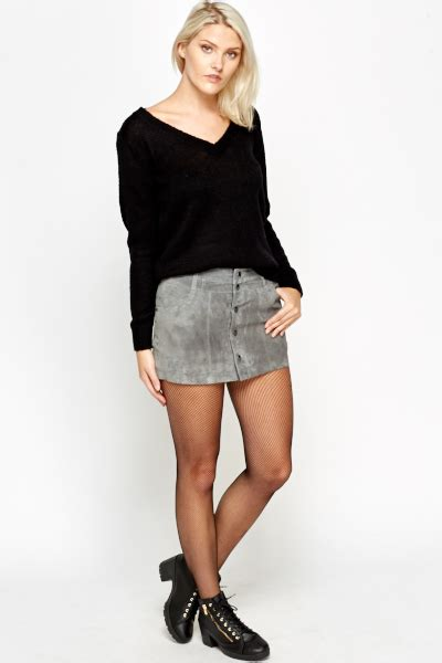 Button Front Mini Skirt suede button front mini skirt just 163 5