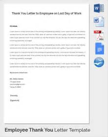 last day at work email template sle thank you letter to employer 18 free