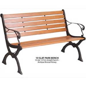 park benches uk 10 slat park bench in wood metal the garden factory