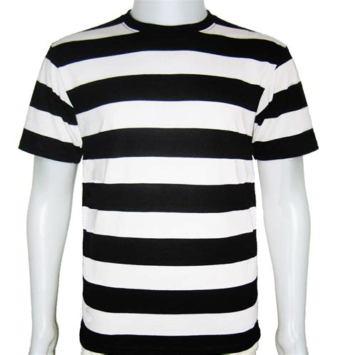Sleeve Stripe T Shirt black and white striped mens shirt is shirt