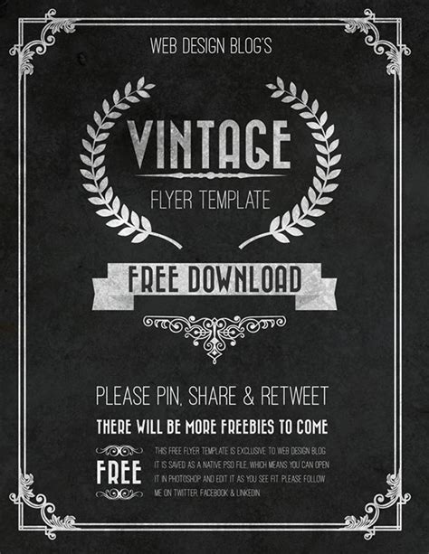 Free Vintage Flyer Template Psd On Behance Thank You Flyer Template Free