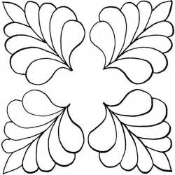 Feather Quilting Templates by Arista Visio Stencils Cliparts Co