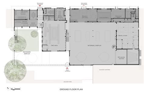 research center floor plan gallery of automobile design studio sjk architects 14