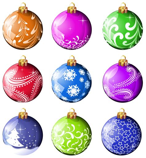 Garden Art Images - christmas balls clipart many interesting cliparts