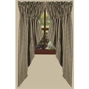 gathered curtains farmhouse heritage house check prairie gathered curtains