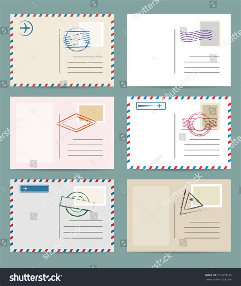 airmail postcard template image collections templates