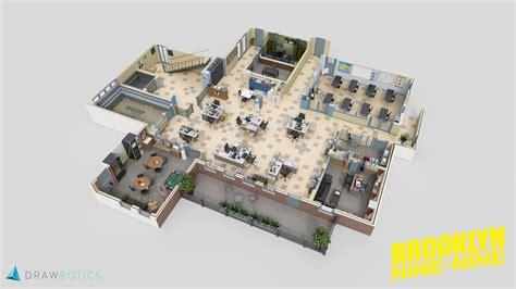 reddit 3dfloorplans a 3d floor plan of brooklyn nine nine what do you guys