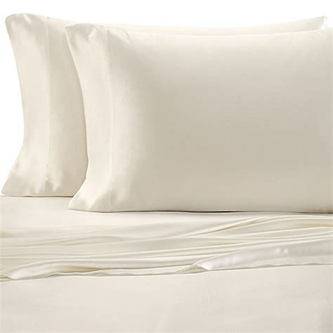 silk pillow cases bed bath beyond buy valeron estate silk standard pillowcase in pearl from bed bath beyond