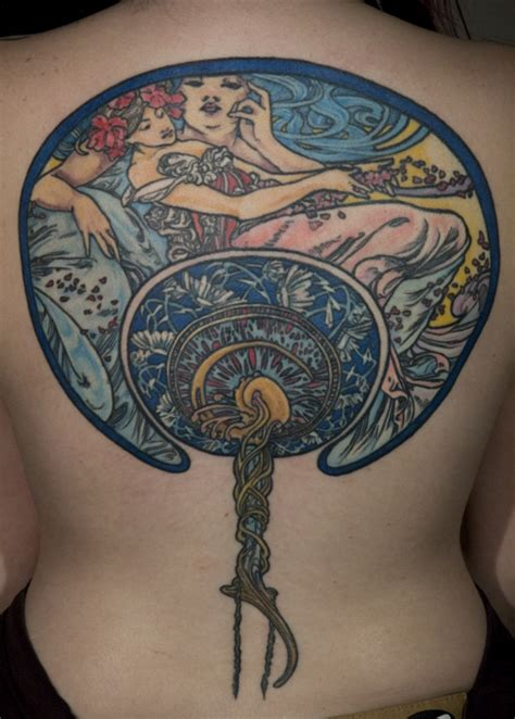 art nouveau tattoo ghostprint gallery tattoos thea duskin