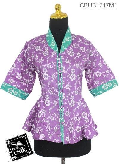Blus Kembang Murah blus gotik motif kembang krokot blus lengan tanggung murah batikunik