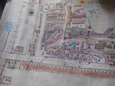 Draw Your Own House Plans by making hand drawn maps of their slums in india kids