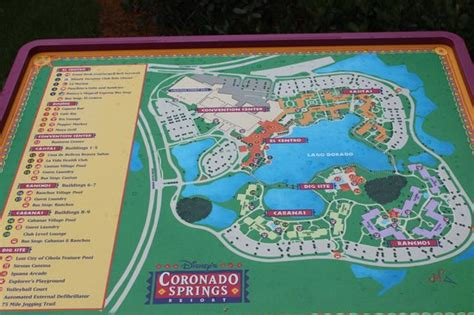 coronado springs resort map map picture of disney s coronado springs resort orlando tripadvisor