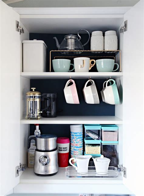 how to organize mugs in cabinet coffee mug storage ideas diy projects craft ideas how to