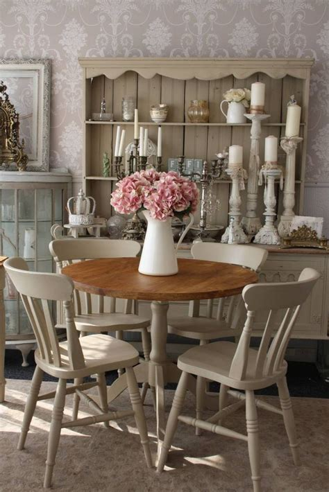 shabby chic round dining table and 4 chairs shabby chic