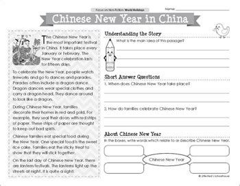 reading comprehension on new year reading comprehension passages world holidays by