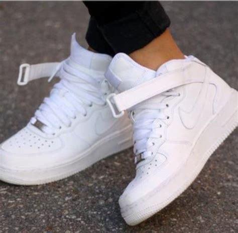 shoes nike sporty white high tops white high top air