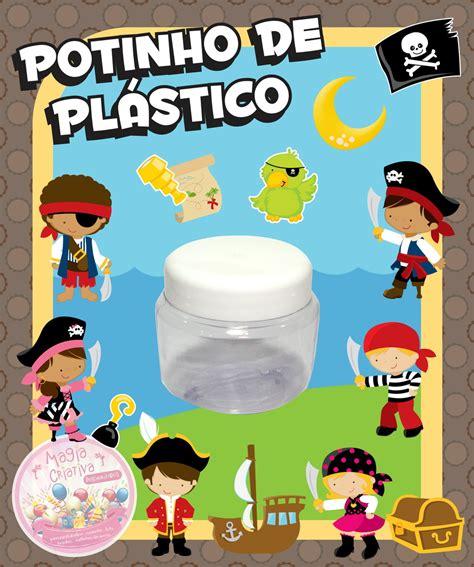 Plastik Segel 7 5 Cm By Nomi Mino potinho de pl 225 stico piratas mini no elo7 magia