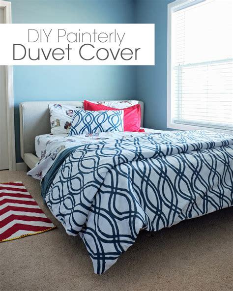 Duvet Cover Diy diy painterly duvet cover