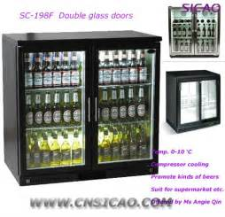 Mini Bar Display Cabinet 2 Glass Door Mini Bottle Commercial Refrigerator