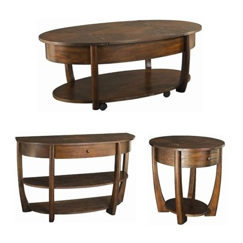 Hammary Coffee Table by Hammary Concierge 3 Coffee Table Set In Brown