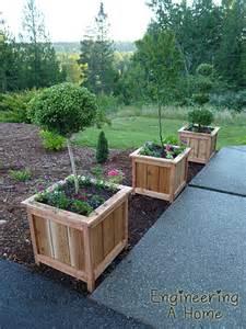 pretty front porch diy large cedar planter boxes