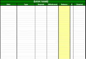 account sheet template checking account spreadsheet
