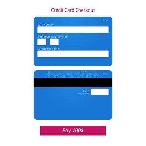 Credit Card Checkout Template Credit Card Checkout Form And Submit Button Stock Vector Image 62479458