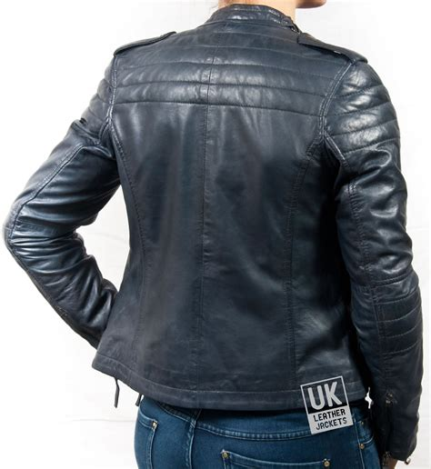 New Jaket Pria Bomber Blue Navy X U A womens navy blue leather jacket fit jacket