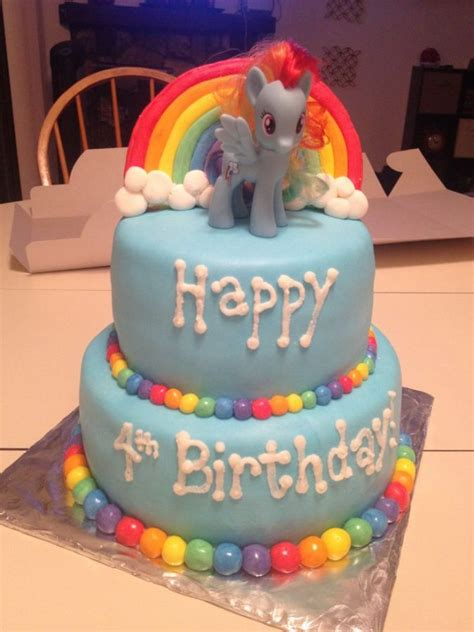 birthday cake ideas super cute rainbow dash birthday cake