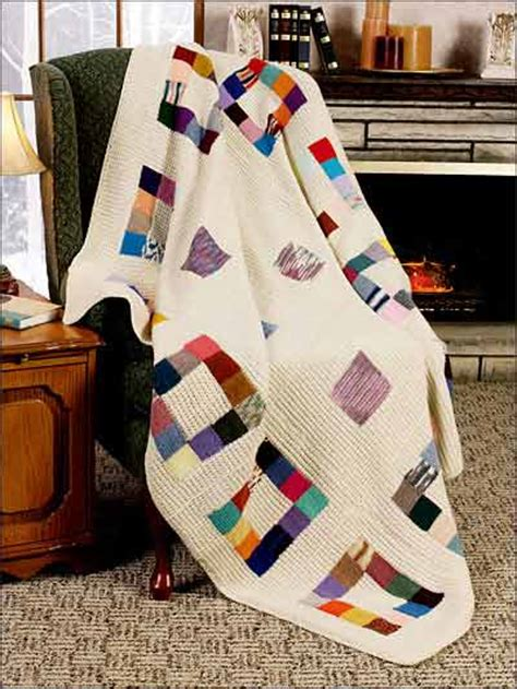 Patchwork Square Patterns - free textured afghan knitting patterns patchwork squares