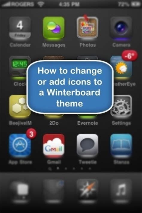 Themes Not Changing Winterboard | about apple how to change or add icons to an iphone