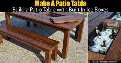 Build A Patio Table Build A Patio Table With Built In Boxes