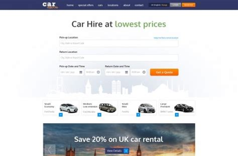php homepage template free car rental website templates phpjabbers