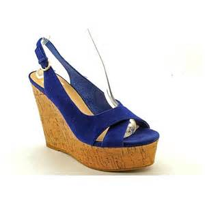 dolce vita blue suede wedge sandals shoes uk 5