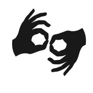 american sign language interpretation icon request fa american sign language interpreting and