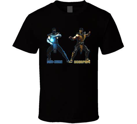 T Shirt Mortal Kombat Anime sub zero vs scorpion mortal kombat t shirt
