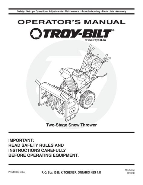 servicerepair manuals ownersusers manuals schematics mtd troy bilt snow blower owners manual