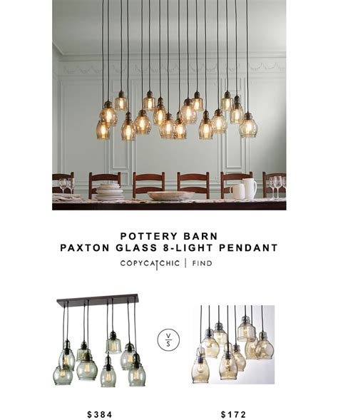 paxton glass 8 light pendant pottery barn paxton glass 8 light pendant copy cat chic