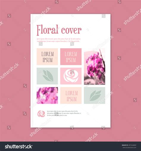 Wedding Floral Brochure by Vector Floral Template Booklet Cover Brochure Stock Vector