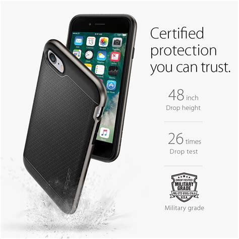 Original Spigen Iphone 7 Neo Hybrid Satin Silver 042cs20520 spigen neo hybrid iphone 7 primegad