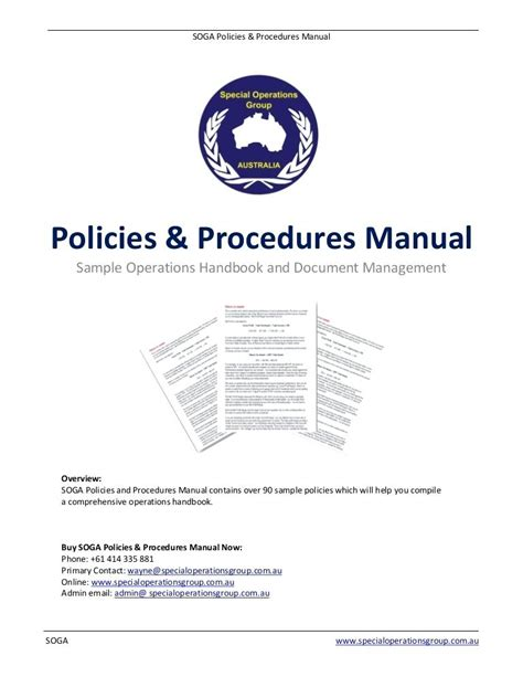 company procedures manual template trucking policy and procedures template company policy 6