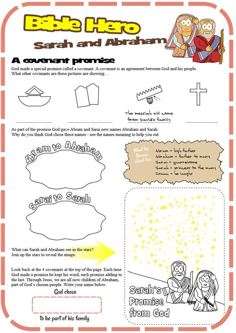 by cathy abraham activity idea place worksheet for sarah and abraham covenant promise